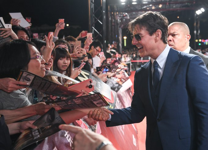 What an amazing crowd in Taiwan! Thank you for such a warm welcome. #TheMummy https://t.co/DhWk2EDvbR