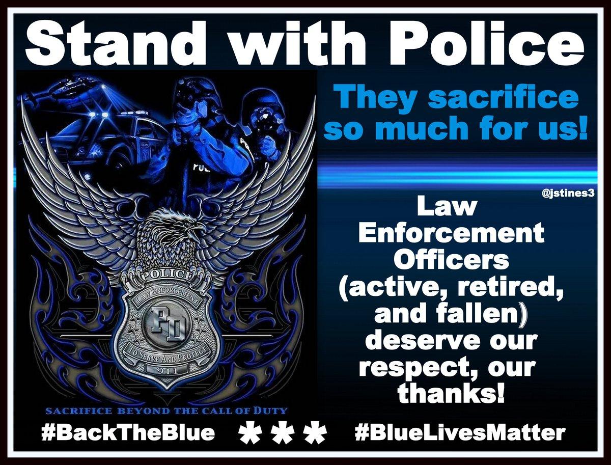 Law Enforcement Officers DESERVE our respect and our THANKS!   #PJNET #BlueLivesMatter #BackTheBlue <br>http://pic.twitter.com/HjsUDgKyHW