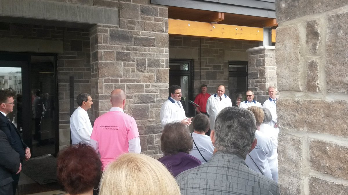 Donor Ashley #Chapman says he&#39;s honored to be part of something as important and beautiful as the new hospice in #OwenSound #ChapmanHouse<br>http://pic.twitter.com/5WQNpYMWdX