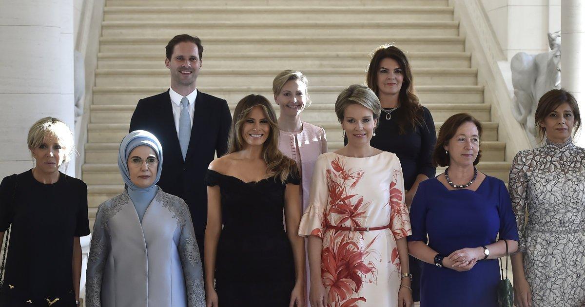 A primeira vez que um marido de chefe de Estado posa ao lado de primeiras-damas em foto oficial da OTAN https://t.co/nX6FCvrqjw