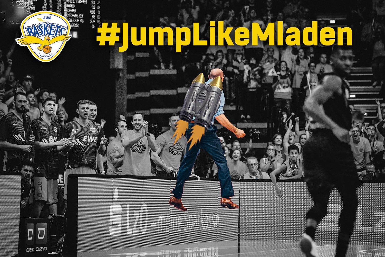#JumpLikeMladen +++ Gewinne 1x2 Tickets für Spiel 4 gegen Ulm! +++ Mehr dazu hier: https://t.co/iIwmAlN2Wu https://t.co/yLQJJmOjDB
