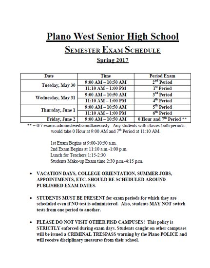 Plano West SHS on Twitter: