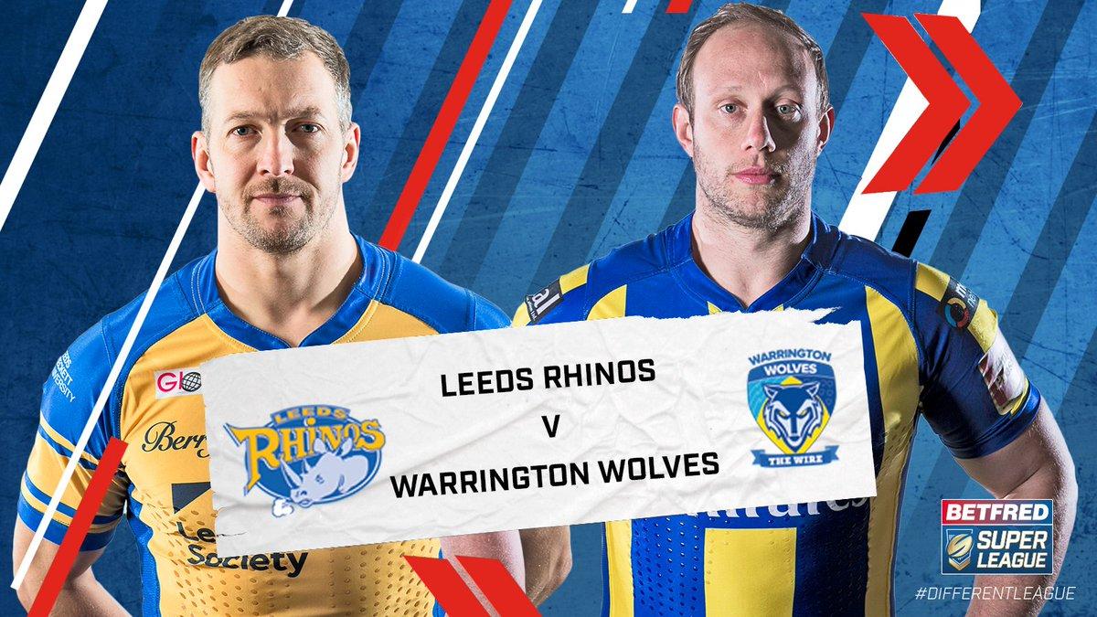 #SLLeeWar   Live on @SkySportsRL 1 tonight it's @leedsrhinos v @wolves...