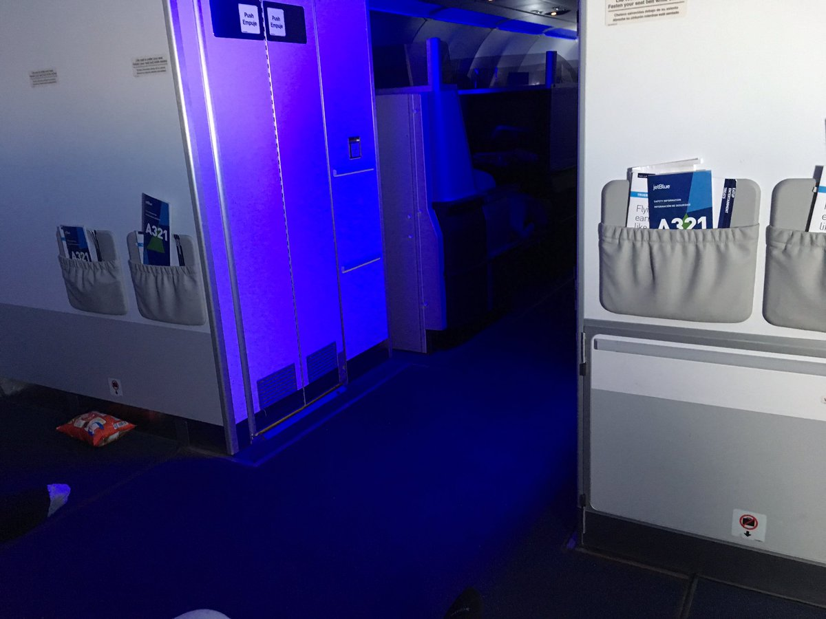 Scored some promo bulkhead seats on this @JetBlue flight - digging the...