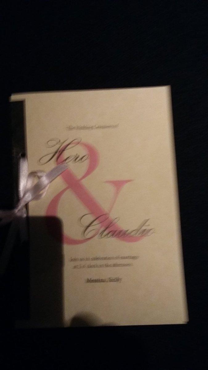 Wedding invitation of Hero and Claudio