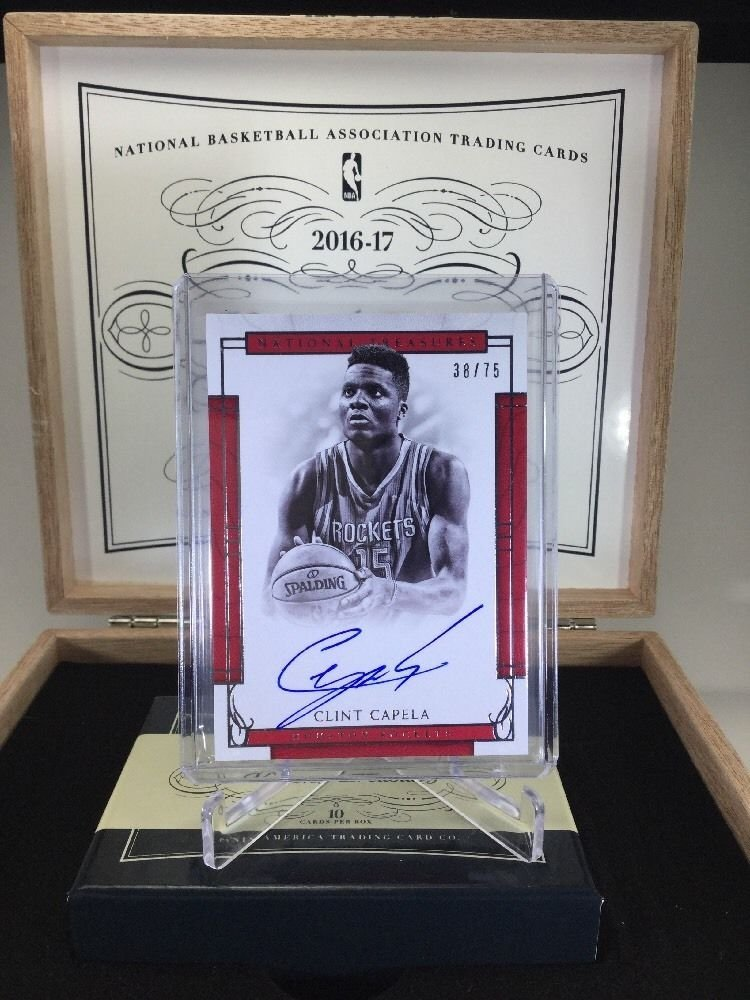 ~New~ 2016-17 #National Treasures #CLINT CAPELA On-Card AUTO #38/75 SP Rockets  http:// ebay.to/2qfCgw8  &nbsp;  <br>http://pic.twitter.com/q0xE1EQCnW