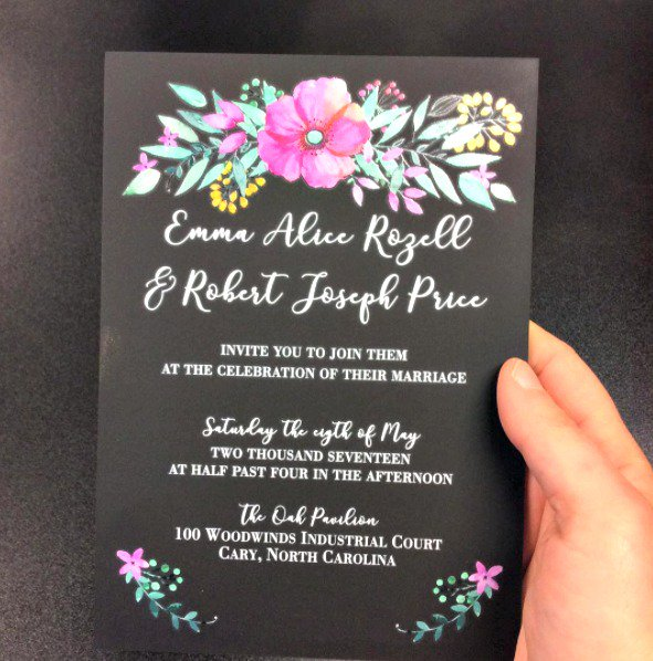 Didyouknow We Can Design Acrylic Wedding Invitations Now You Do This Gorgeous Full Color Printing Comes Straight From Our Uvprinter