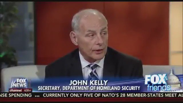 'We are taking care of business on the border.' -@DHSgov Sec. John Kelly