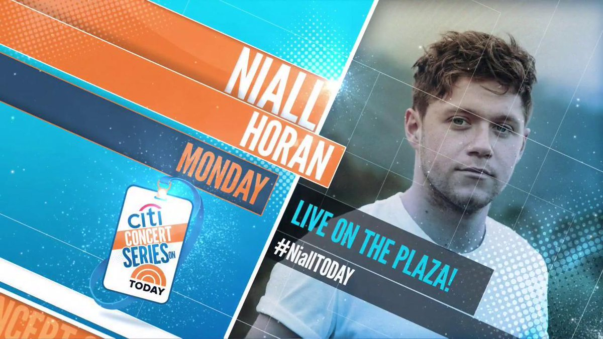 Monday on TODAY: @NiallOfficial will perform live on the plaza! https:...