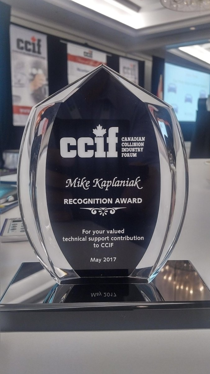 Pleasantly surprised to receive this recognition award today. Proud and happy to have been part of the CCIF for 11y. #Collision #CCIF2017<br>http://pic.twitter.com/oEXPfEeRli