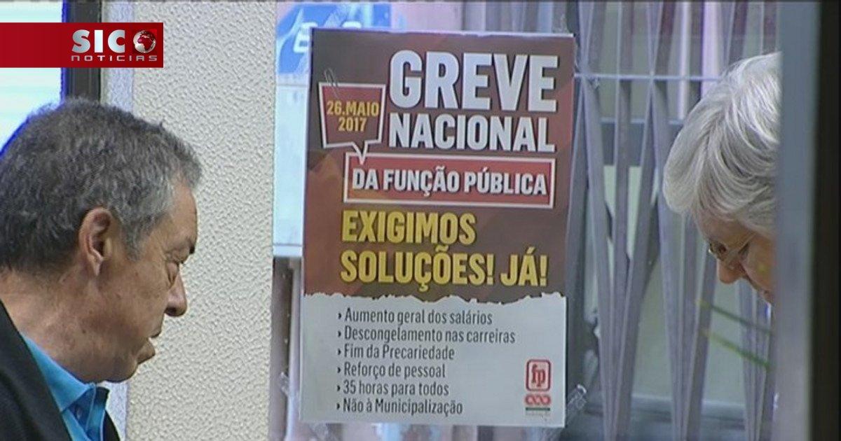 Sindicatos garantem adesão de 90% à greve na função pública https://t....