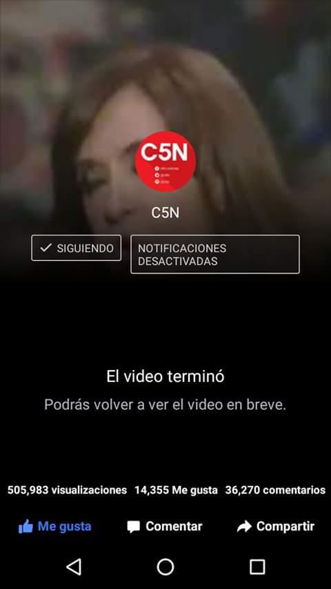 Medio millón de visualizaciones en Facebook la transmisión en vivo de la entrevista a CFK. Tranqui.
