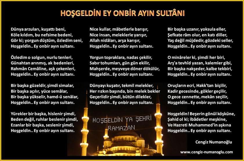 Cengiz Numanoğlu On Twitter Hoşgeldinonbirayınsultanı Ramazan