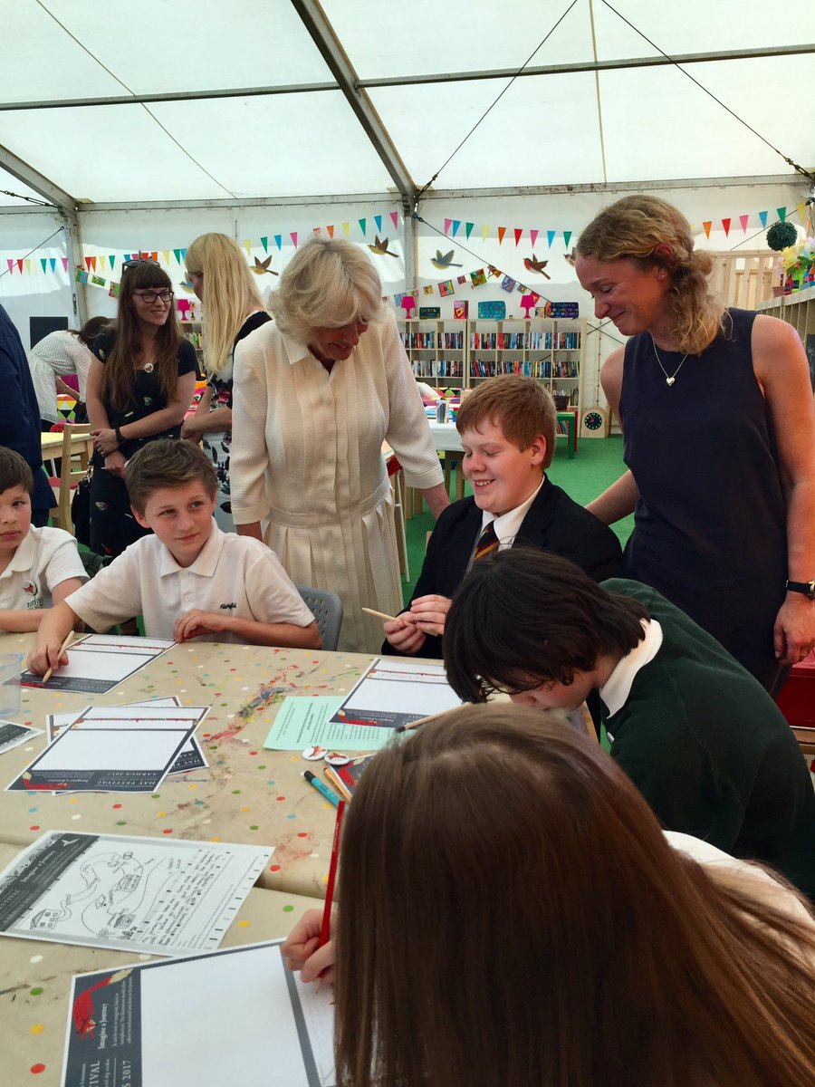 The Duchess also visited @hayfestival Wales' Secondary School Day today to celebrate the literature festival's 30th anniversary year.