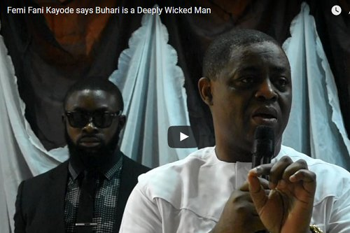"The former Minister of Aviation, Mr. Femi Fani Kayode has described President Muhammadu Buhari as a ""deeply wicked man"" in a video during book launch"