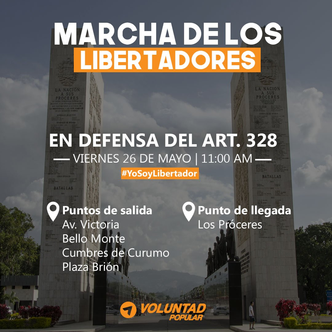 Hoy salgamos a gritar #YoSoyLibertador en todas las calles de Venezuel...