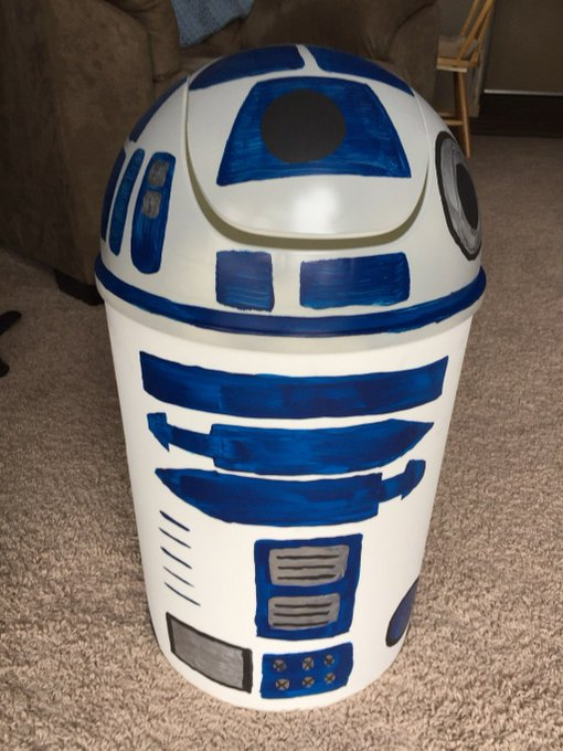 R2D2 Trash Can DiY