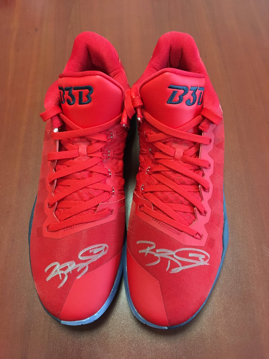 We're giving away a pair of signed @RealDealBeal23 shoes