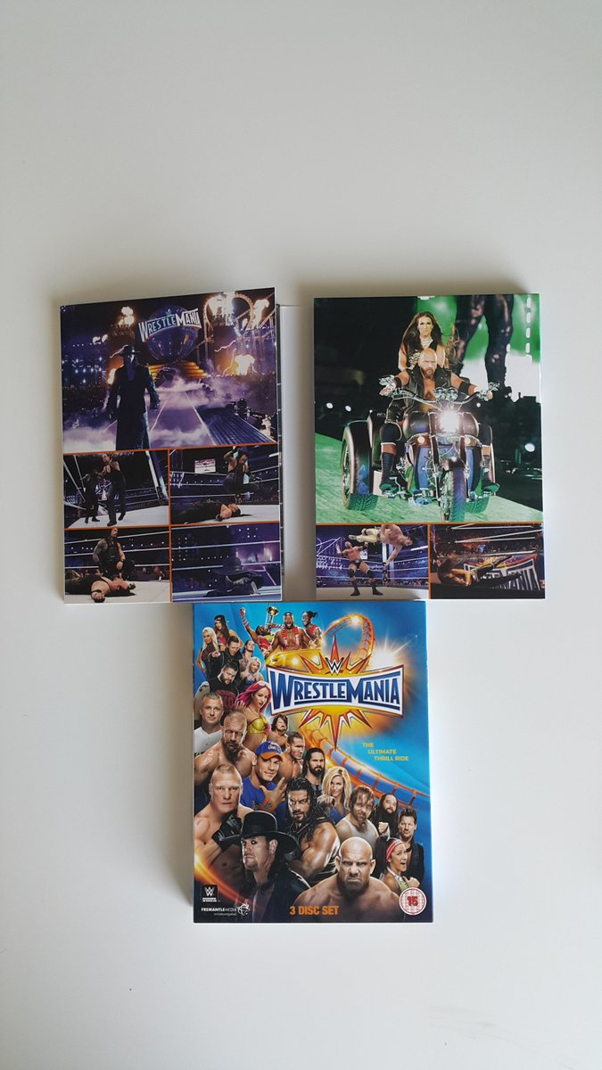 Look what we&#39;ve got in the office! #WrestleMania 33 is out 5th June - pre-order now at  http:// Amazon.co.uk  &nbsp;   &amp;  http:// WWEDVD.co.uk  &nbsp;  !<br>http://pic.twitter.com/PnDDMgcnUl
