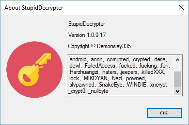 Updated decrypter for #Stupid #Ransomware to cover &quot;.WINDIE&quot; and &quot;.fucking&quot; variants. <br>http://pic.twitter.com/hyEX8btBIg