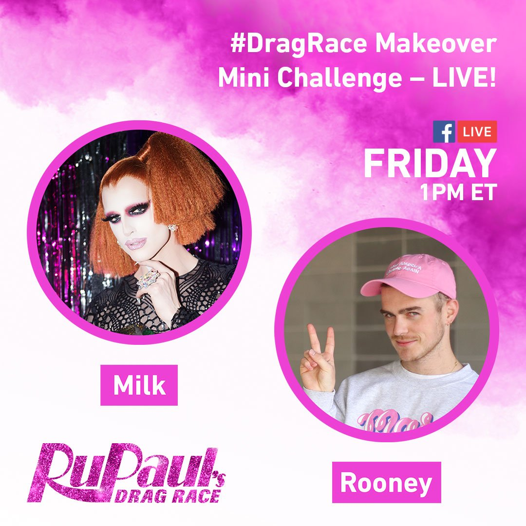 Tune-in to #DragRace Facebook Live later today for a lil' Makeover Min...