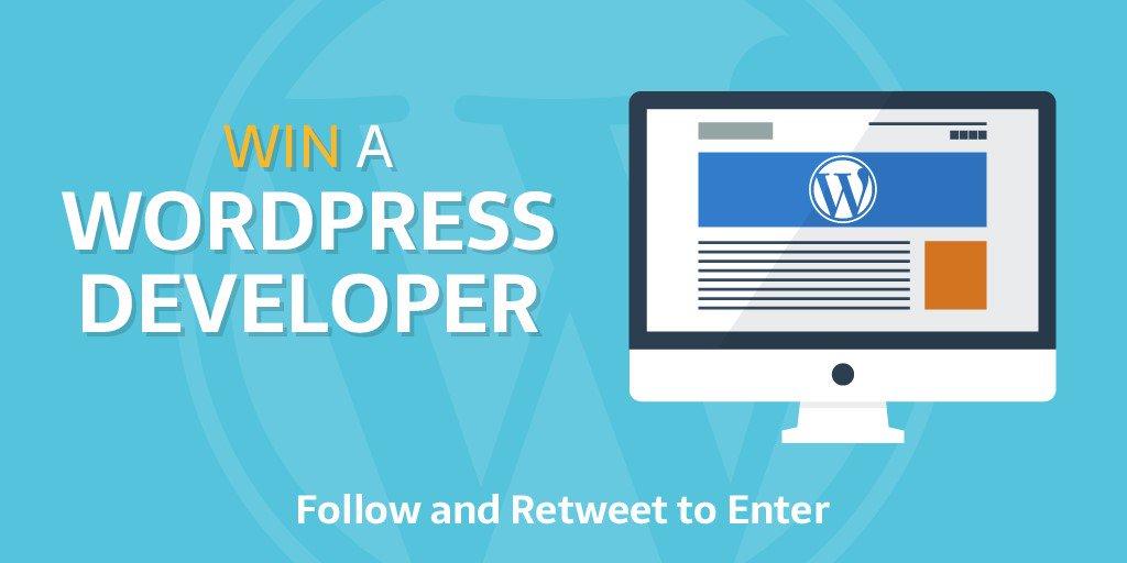 Win a #Wordpress #Developer for 2 hrs to fix/improve your #website Follow us &amp; Retweet to enter 5 winners 6th June   http:// bit.ly/2q4cFTz  &nbsp;  <br>http://pic.twitter.com/nnbc675157