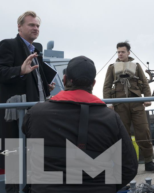 #NEW   Harry and Christopher Nolan on set of Dunkirk for Total Film Magazine. <br>http://pic.twitter.com/vRj0OvgXye