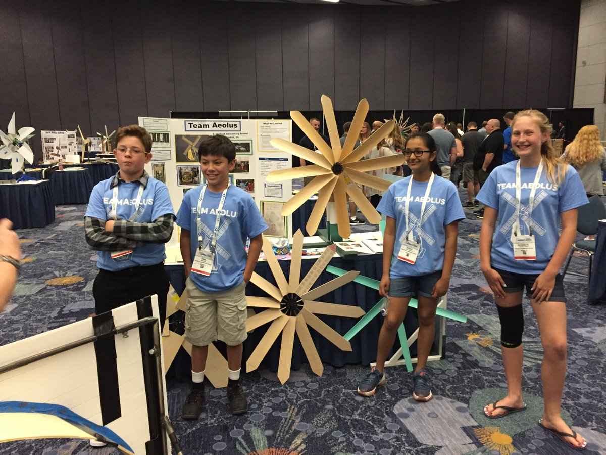 A Scott Crossfield On Twitter Way To Blow Them Away Team Aeolus Our Kiddos Took 3rd In The National KidWind Project Competition So Proud