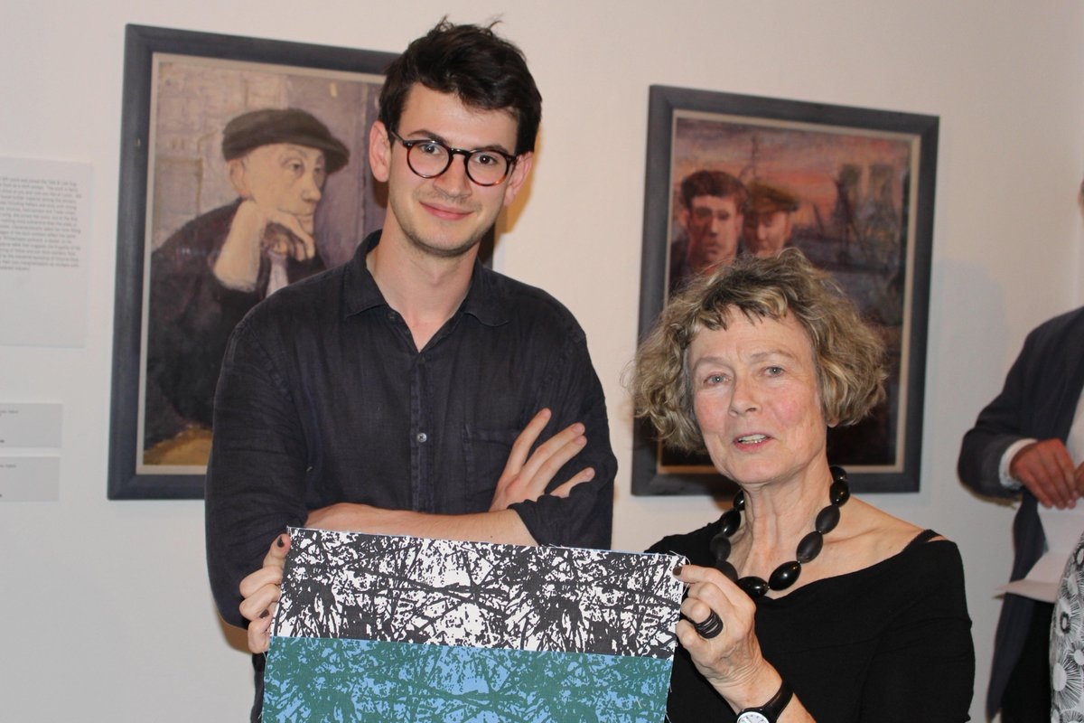 Great to see Sam Reich of @tiborreich & grandson of designer Tibor Reich at Dr Anna Nyburg's talk last night on 'Exiles and Textiles'#design