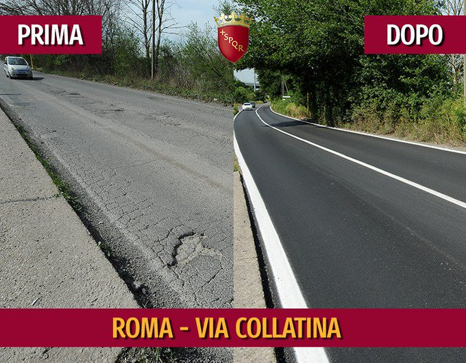 #StradeNuove VIA COLLATINA Spesa complessiva di 100.000 euro Si tratta di intervento di rifacimento dei tratti ammalorati del manto stradale