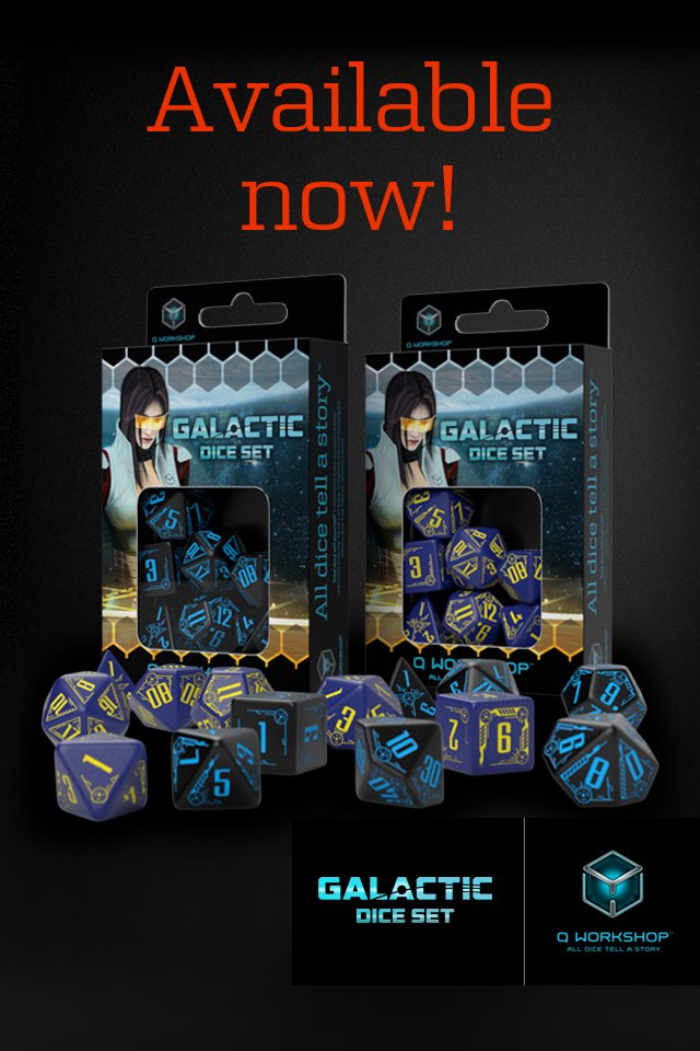 Galactic dice in two colors - available now at  https:// q-workshop.com/en/new-products  &nbsp;  ! #galactic #scifi #dice #qworkshop #cosmic<br>http://pic.twitter.com/Jd7Kcvrlnr