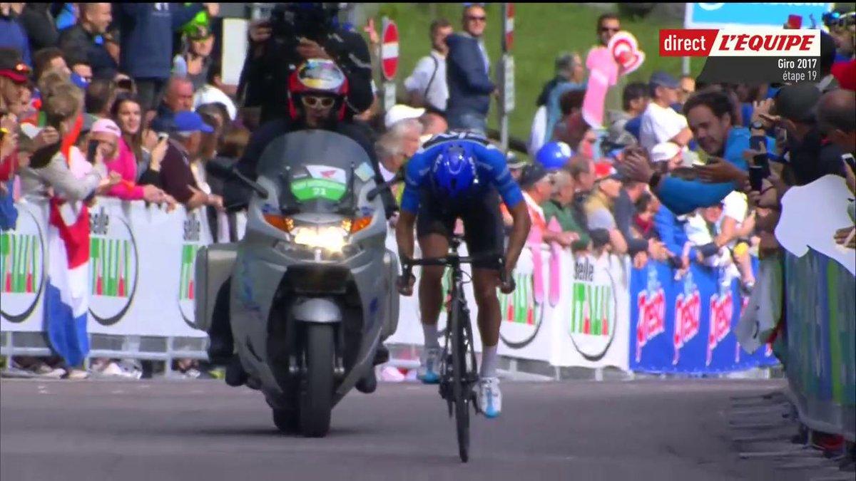 Victoire de l'Espagnol Mikel Landa (Sky) à Piancavallo ! 👏 #lequipeGIR...