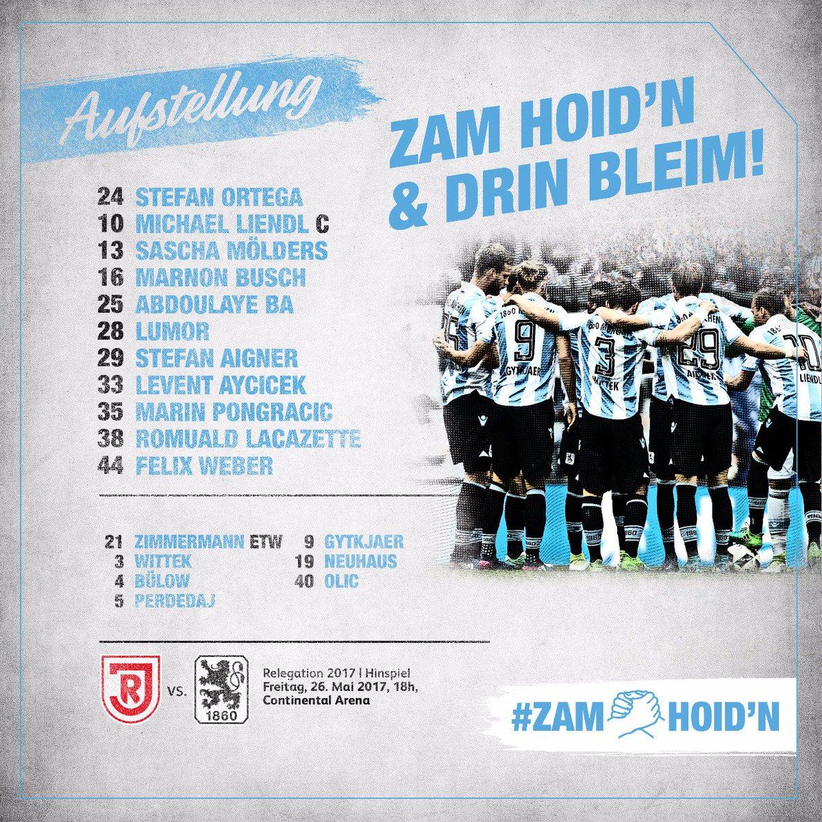 Viel Erfolg, Löwen! Unsere Aufstellung! #zamhoidn & drin bleim! ⚪🔵...