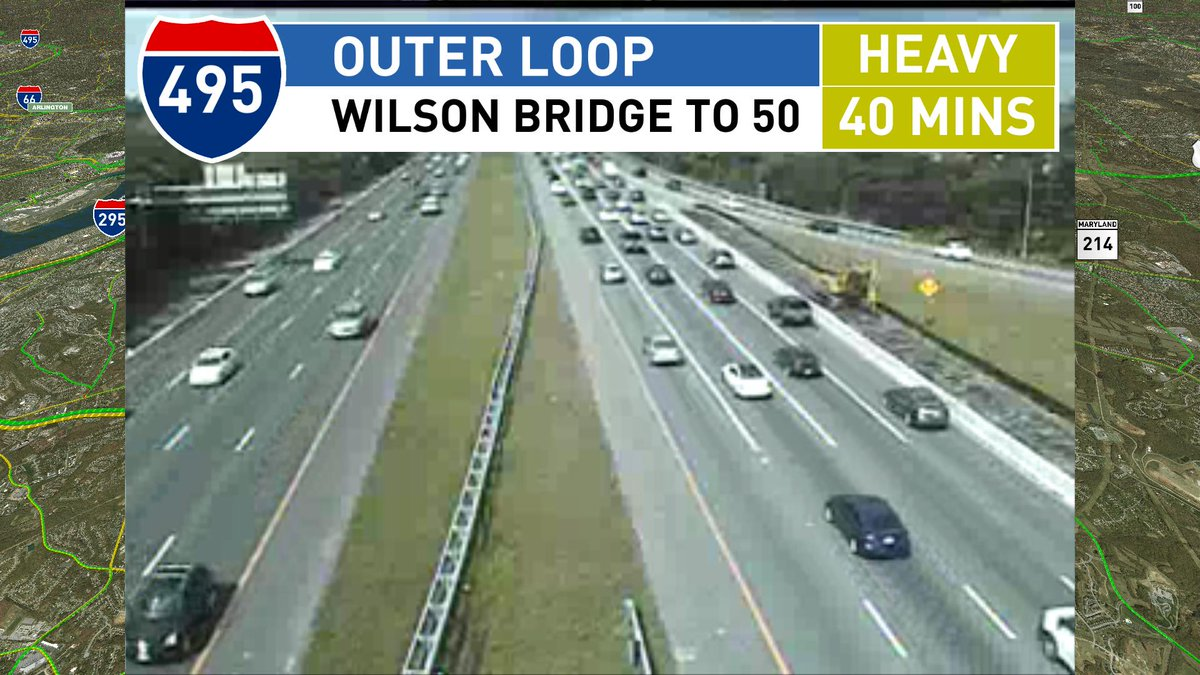 Lanes open but the outer loop is below speed from 210 towards 50 #MDtr...