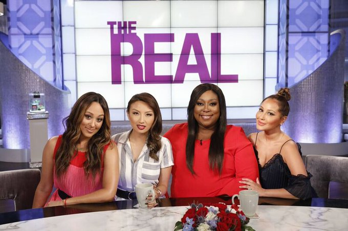 COMING UP NEXT, #GirlChat, #WorldofDance star @NeYoCompound dishes about the show, plus an edition of #AbsolutelyAdrienne! #TheReal