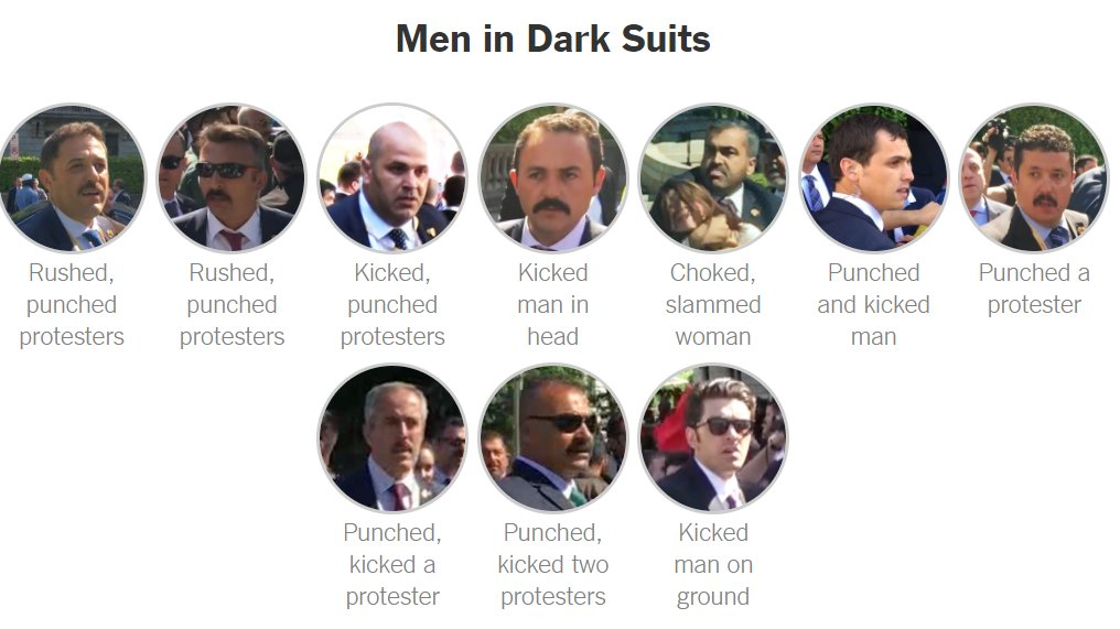 These are the Erdogan bodyguards who violently attacked protesters in Washington.  @NYT investigation: https://t.co/m9MV5zc3S8