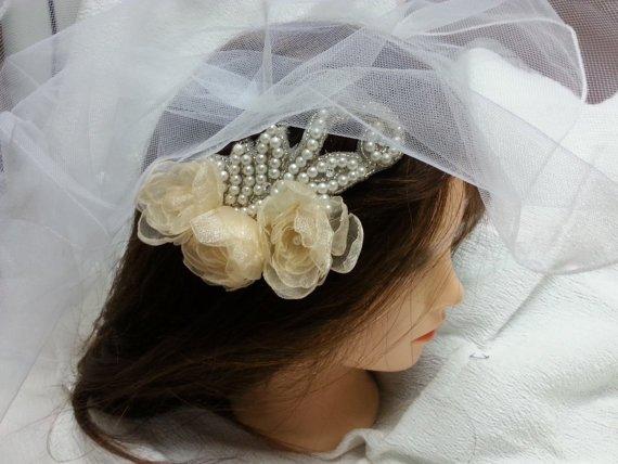 Delicate Flower Wedding comb, peach blossom, Wedding #Hair Comb, Bridal Hair Accessories. Bridal headdr... #weddings  http:// etsy.me/2s4E7Sz  &nbsp;  <br>http://pic.twitter.com/KaPjdr779v