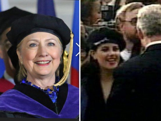 Why did Hillary Clinton dress up as Monica Lewinsky for the #Wellesley2017 commencement speech?