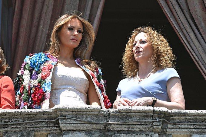 En Sicile, Melania Trump se promène avec une veste coûtant 51.000 dollars sur les épaules https://t.co/P7cofop1wM