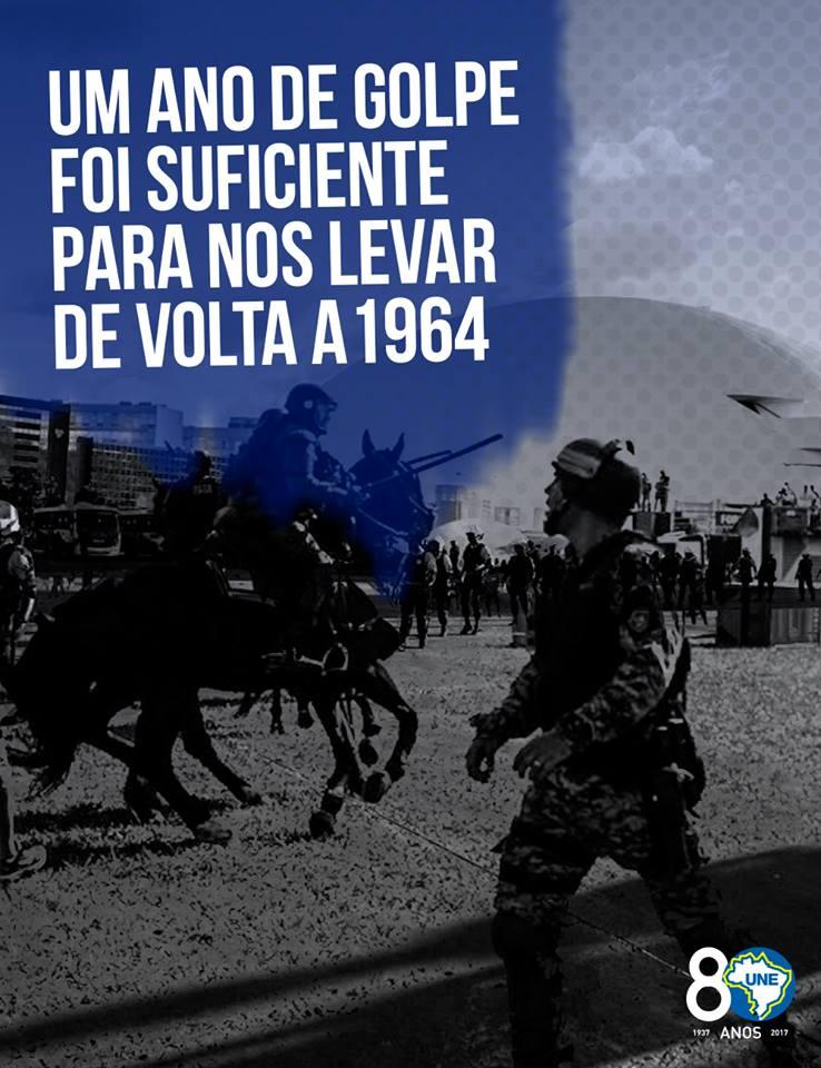NÃO à ditadura! E SIM pela democracia! #DiretasJá #ForaTemer #DiretasPorDireitos foto: Marcelo Rocha @cucadaune