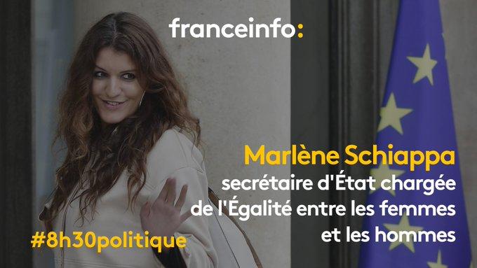 Demain matin, Marlène Schiappa, secrétaire d'État chargée de l'Égalité entre les femmes et les hommes, sera l'invitée du #8h30politique