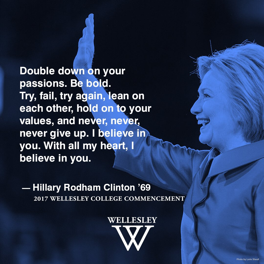 'Be Bold!'-@HillaryClinton #Wellesley2017 https://t.co/AsqGx8CEhk