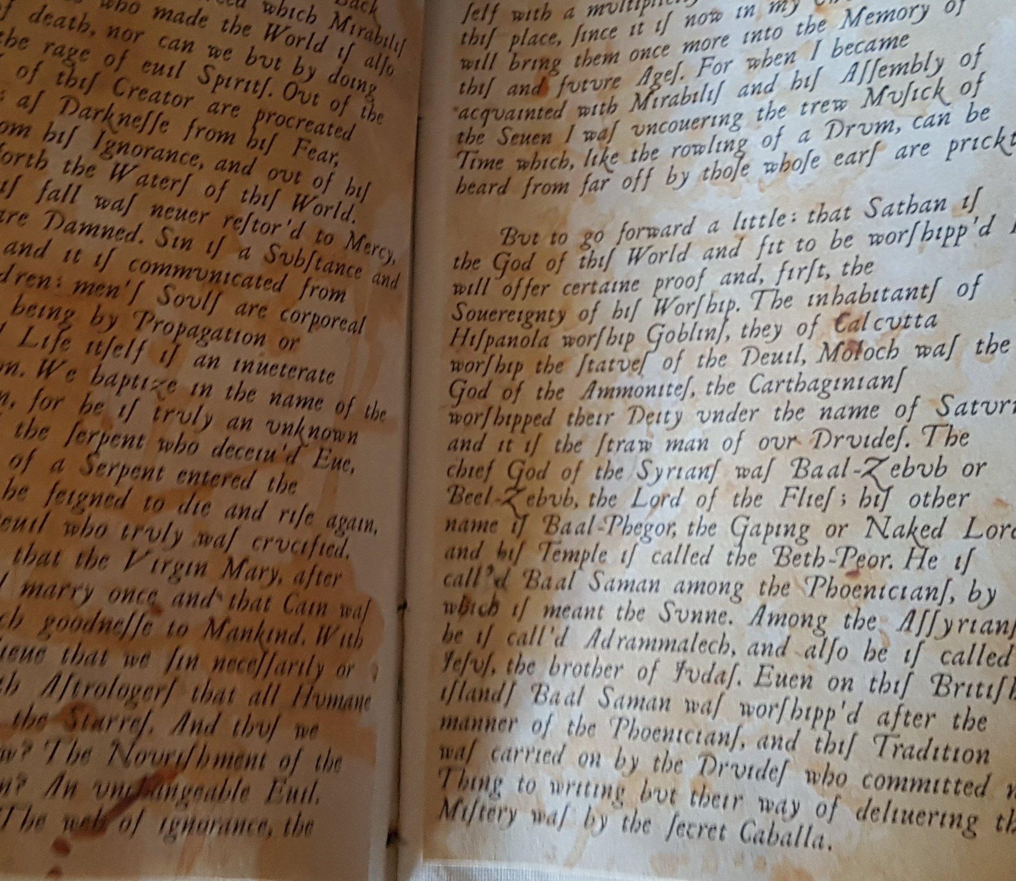 These blasphemous writings were adapted from passages in Peter Ackroyd's #Hawksmoor https://t.co/iQbAirnoVC