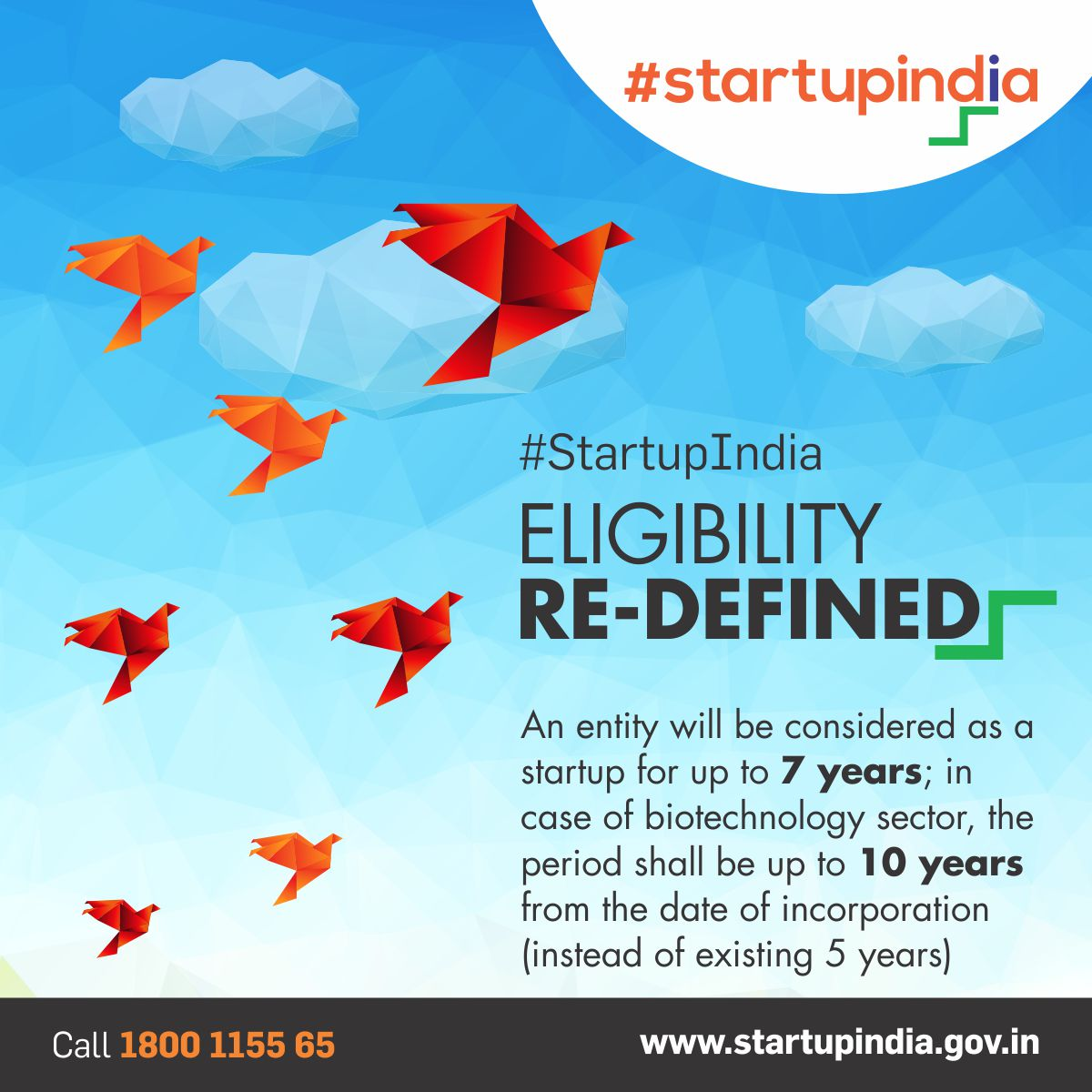 #StartupIndia relaxes eligibility criteria for #startups. Visit  http:// bit.ly/2jtRRpE  &nbsp;   to know more.<br>http://pic.twitter.com/sbE2s7YNEc