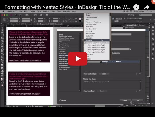 [EN] Formatting with #Nested #Styles – #InDesign Tip of the Week #VIDEO &gt;&gt;  https:// youtu.be/E2eVvAXOVJo  &nbsp;   via @iampariah<br>http://pic.twitter.com/mM1STPUhvl