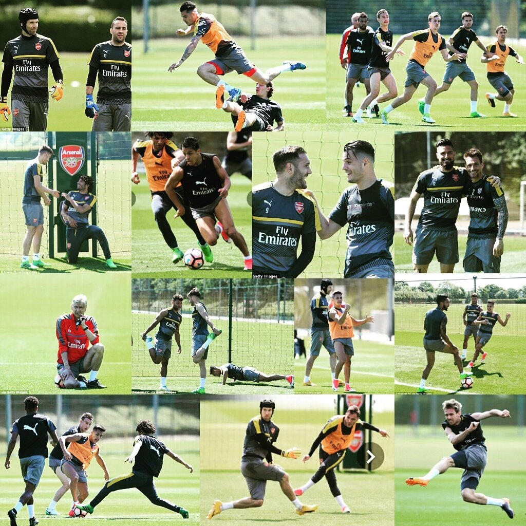Training ahead of FA Cup final. We will have to be at our best to beat Chelsea. We must win the trophy. #Arsenal #COYG<br>http://pic.twitter.com/K0z1x2TlnN