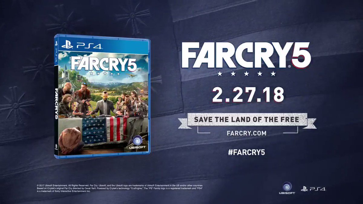 Here's the brand new announcement trailer for #FarCry5! https://t.co/d...