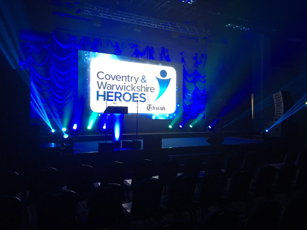 We are nearly ready for our #covheroes awards @JohnDalziel @EmmaJesson...