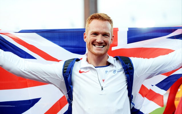 He's back!  8.18m for @GregJRutherford to win his first long jump comp...