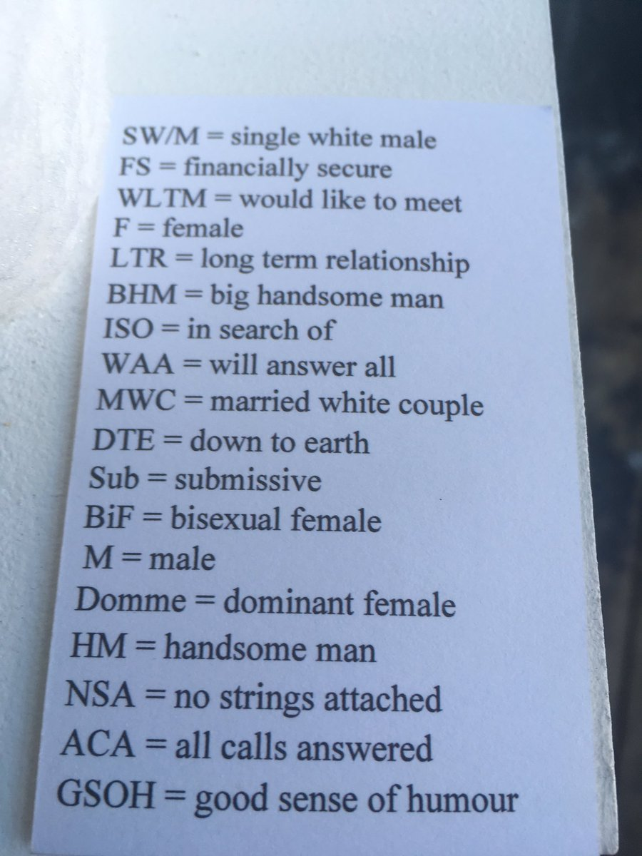 Dating acronyms gsoh
